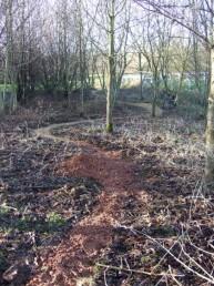 Newly surfaced trail in Swindon in December 2008.