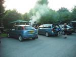 BBQ smoke at Croft Trails in Swindon.