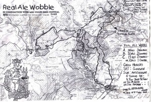 Real Ale Wobble route map 2003.