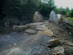 Rocks on MTB track.