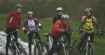 Group of women mountain bikers.