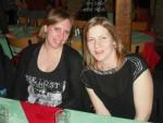 Two women in a restaurant.