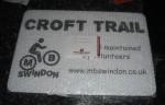 Croft trail sign.