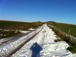 Snow on track over ridgeway.