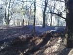 Berms on mountain bike trail.