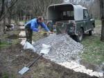 Pile of gravel at Croft Trails, Swindon.