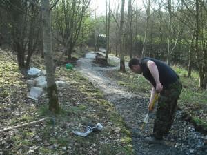 New trail taking shape.