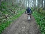 Mountain bike rider near Ozleworth.