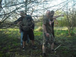 Trail build volunteers.