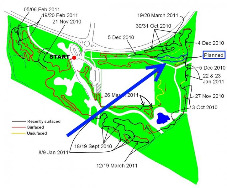 Planned route extension for Croft Trails, Swindon.