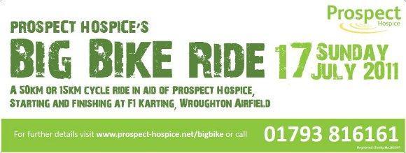 Prospect Hospice Big Bike ride 2011 banner