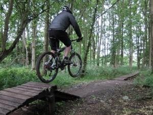 Jump at Croft Trail in Swindon.