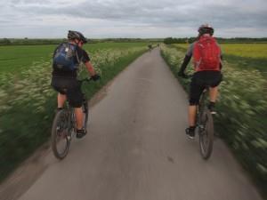 Riders near the ridgeway.