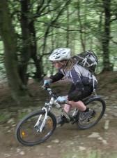 Women rider at Cwm Carn.