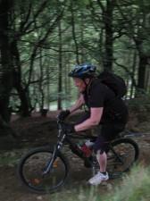 Woman rider at Cwm Carn.