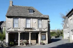 Bisley Bear pub in the Cotswolds.