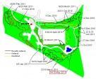 Progress map for Croft Trail Swindon. May 2011.