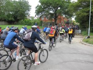 Start of the Castles Bike Ride