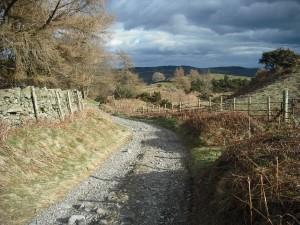 Bridleway near Furness Fells in the lake district.