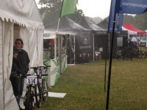 Rain at Sleepless in the Saddle 2011.