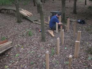New wood section taking shape at Croft Trail in Swindon.