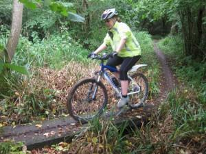 Mountain biker at Spirthill.
