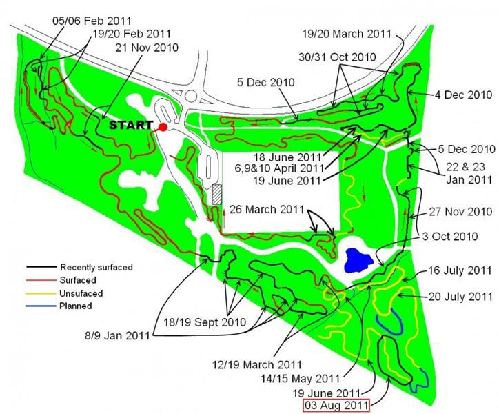 Croft trail progress map August 2011.