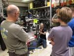 Bike maintenance training session at Hargroves Cycles in Swindon.