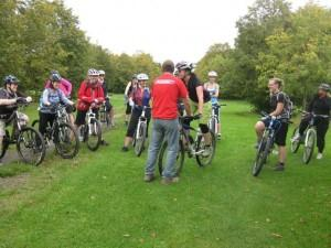 Ladies ride at Croft Trail in Swindon.