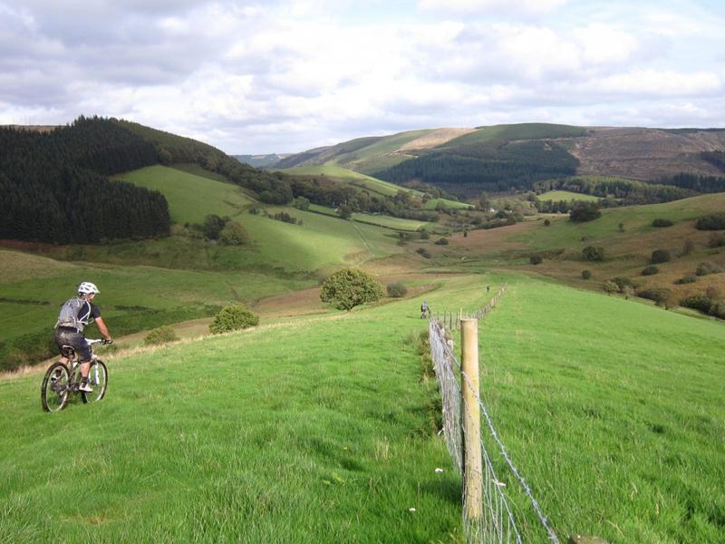 Hills in mid Wales.