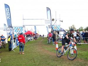 Rider finishing at Bristol Oktoberfest.