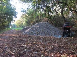 Big pile of gravel.