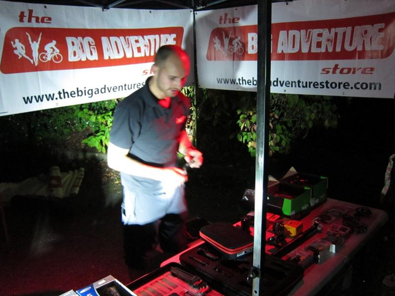 The Big Adventure Store at a night ride with MBSwindon.
