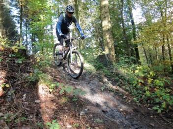 Muddy ramp at Forest of Dean.