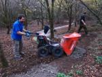 Jerome dumps his load at MBSwindon trail build day.