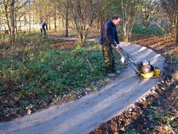 New berm at Croft Trail in Swindon.