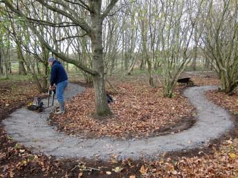 Newly surfaced trail at the Croft Trail in Swindon.