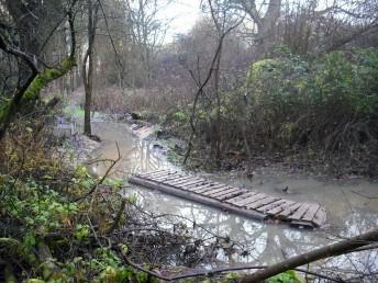 Flood at Croft Trail in Swindon.