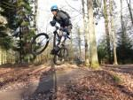 Jump at the Vederer's trail in the Forest of Dean.