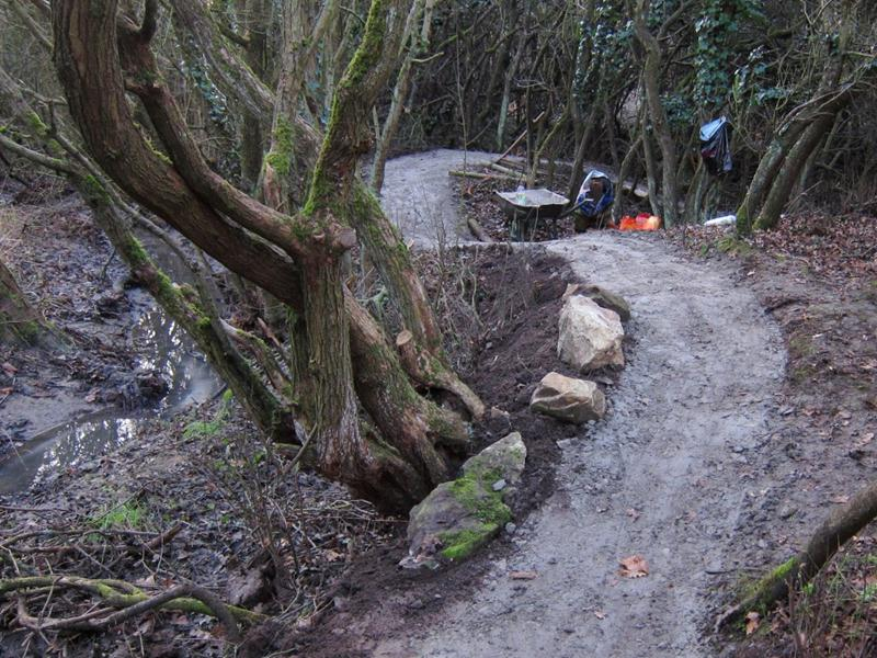 New trail at Croft Woods in Wiltshire.