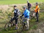 Riders on the ridgeway near Coate Water.
