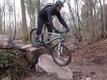 Rock ramp at Yer Tiz trails in Bristol.