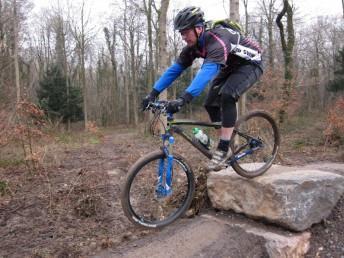 Rock drop at Leigh Woods skills loop.