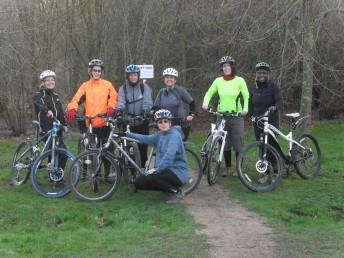 Group of women riders at the Croft Trail in Swindon.