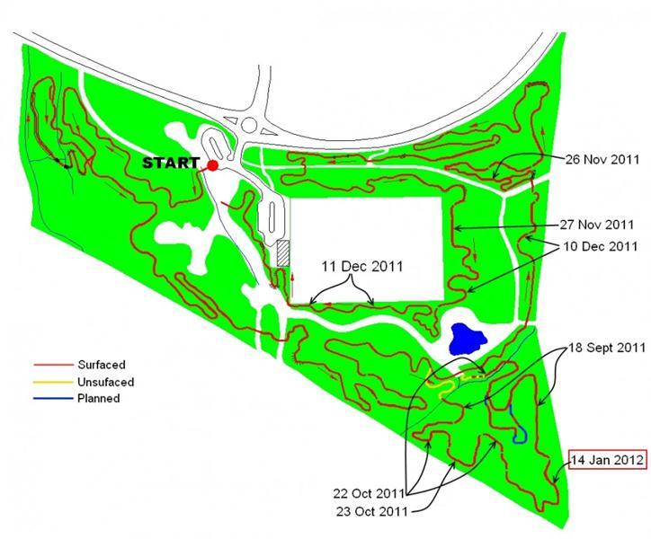 Mountain bike trail map Wiltshire.