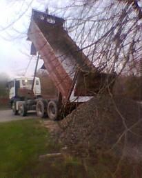 Limestone delivery in Wiltshire.
