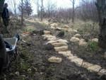 Rock garden feature at the Croft Trail in Swindon.