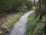 Resurfaced trail in Swindon.