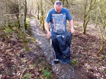 Resurfacing trail in Wiltshire.
