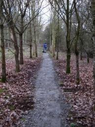 Resurfaced section at the Croft Trail.